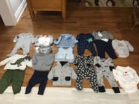 EUC, mixed lot baby boy clothes, 3-6m, 4-6m, 6m, some new Brampton, L6R