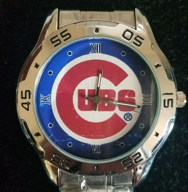 Stainless steel Chicago Cubs watch