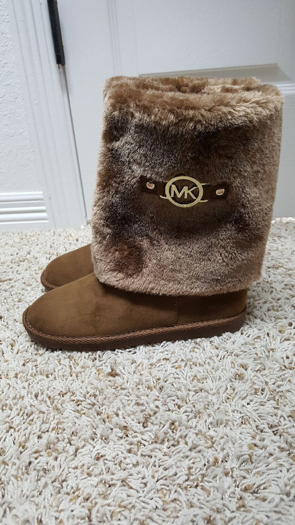 ee65148ece9699 Used Michael Kors Maybeth Brown Faux Fur Boots for sale in Temple ...