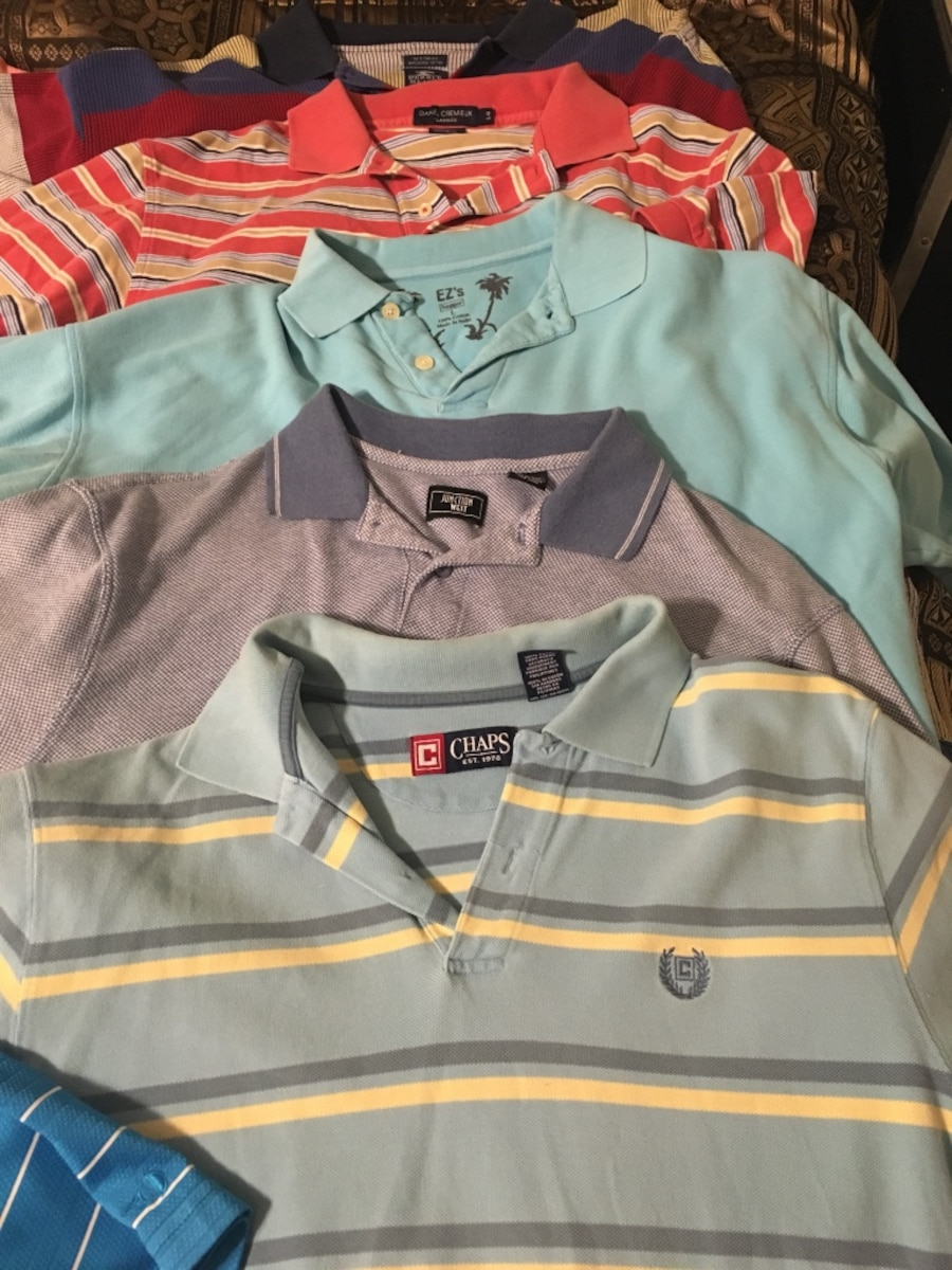 10 Name brand Men's  Polos - Bethel Heights