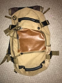 brown and black leather hiking backpack Gaithersburg, 20877