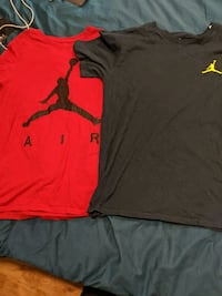 two Jordan shirts for sale, size medium