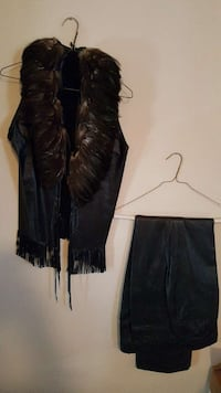 Leather Vest and pants Size 8 Clearwater