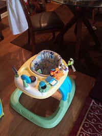 baby's green and blue activity walker 12 km