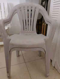 FREE!! Two Patio Chairs; cracked but still usable