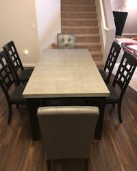 Rectangular Grey dining  table with six chairs dining set Las Vegas, 89139