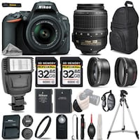 NEW Nikon D5500 Camera Bundle with 32GB Storage and everything else as in the picture.