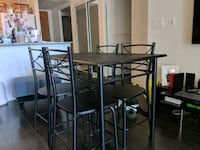 Black table with 4 chairs Toronto, M2N 7L6