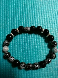 black and silver beaded bracelet Chicago, 60707
