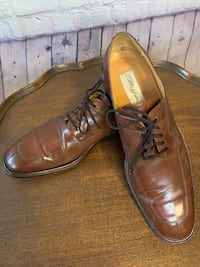 Mezlan brown oxford lace up loafer size 13