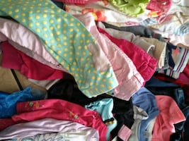 Lots of baby girl clothes different sizes