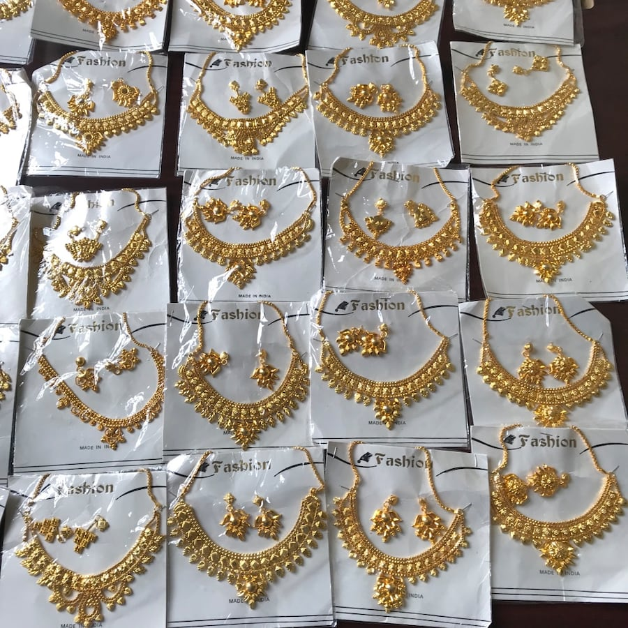 $5 each New Indian fashion jewelry in gold ton ( it's not real gold)