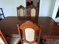 Dinner table oak +6 chairs + Hutch+buffet server Mississauga, L4Z 1L8