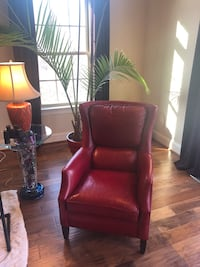 Chair- red leather Arnold, 21012