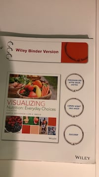 Visualizing Nutrition: Everyday Choices binder textbook Mahopac, 10541