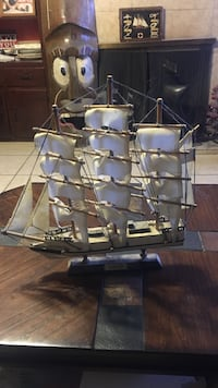 black and brown galleon ship miniature Roswell, 88201