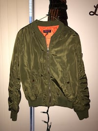 Green bomber jacket Burnaby