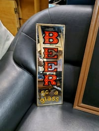 BEER 5c a Mirror Sign