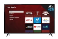 TCL 65 INCH CLASS 4-SERIES 4K UHD HDR LED ROKU SMART TV Brampton, L6Y 6G5
