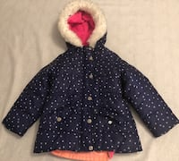 Used 2-1 Toddler Girl Winter Jacket (4T) Laurel, 20707