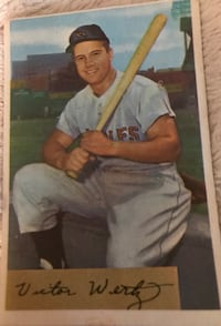 Vic Wertz original baseball card Silver Spring, 20904