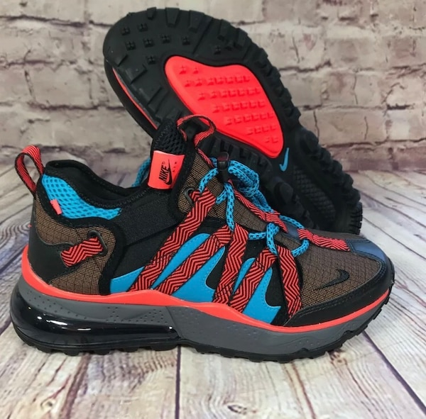 info for 8c4ab 822c8 2018 Nike Air Max 270 Bowfin Black Orange Blue Size 12 and 12.5
