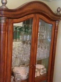 brown wooden framed glass display cabinet Washington, 20012