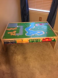 Train table with 2 drawers for storage 33x47. Available!