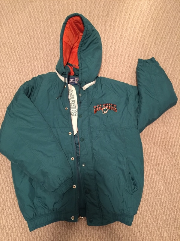 wholesale dealer 86888 111f7 Miami dolphins starter jacket