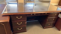 Desk with glass top free