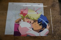 JAPANESE ANIME CEL COLORFUL 10.5X9 VERY GOOD CONDITION. COLLECTIBLE