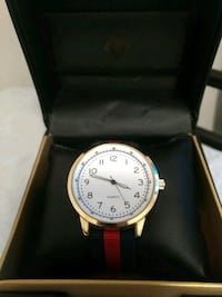 round silver-colored analog watch with box Lake Country, V4V 2M8