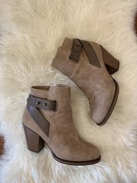 Just Fab brown & grey booties Vaughan, L4H 1N4