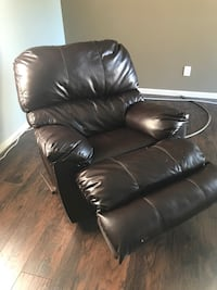 black leather recliner sofa chair Beaumont, 77703