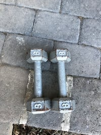 pair of gray fixed weight dumbbells Rockville, 20852