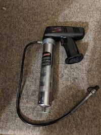 black and gray corded power tool CHATHAM