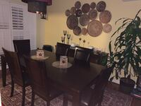 Dining room set for 4, extendible for 6. Comes with 6 chairs  Derwood, 20855