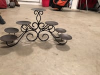 black metal candle holder stand Vance, 35490