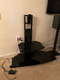 black glass TV stand with mount Virginia Beach, 23454