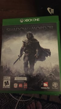 Shadow of Mordor Xbox One game case Ajax, L1S 1X1