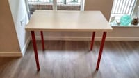 White Ikea table with red feet Westmount, H3Z