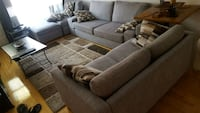 Gray kivik sofa 3 seats . 1 steat and foot stool Montreal, H2M