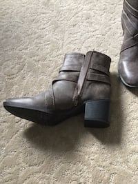 Women's taupe ankle boots with strap detail.  Never worn Toronto, M2P 1E4