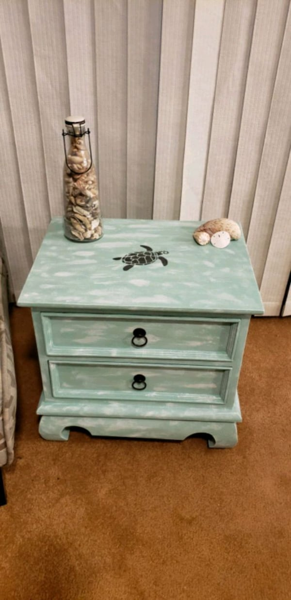 Coastal nightstand/side table $50 obo 522fb4ce-d2a2-4f8e-8eb0-89122cd80b4c