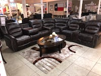 black leather living room set Houston, 77084