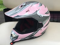 pink and gray motocross helmet Mount Airy, 21771