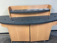 brown and black wooden TV stand