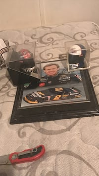 signed car racing rookie plaque