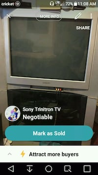 gray CRT TV with stand screenshot Bakersfield, 93306