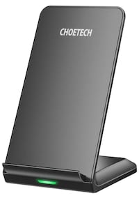 CHOETECH Fast Wireless Charger, Qi-Certified Wireless Charging Stand,7.5W Compatible iPhone Xs Max/XR/XS/X/8/8 Plus,10W Fast-Charging Galaxy S10/S10 Plus/Note 9/S9/Note 8/S8, 5W All Qi-Enabled Phones East Newark, 07029